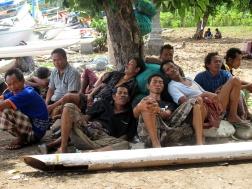 Fishermen resting