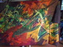 Tatang's batik work