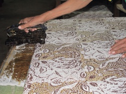 Cap work being made in a workshop in Central Yogyakarta .