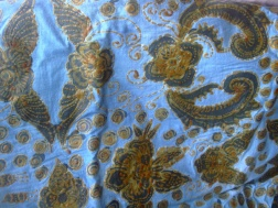 Detail of Mufidah's batik in progress.