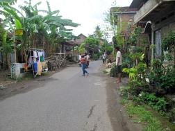 Street in batik village, Kembang Songo.