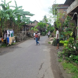 Street in batik village, Kembang Songo.