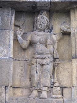 Carving in Borobudur.