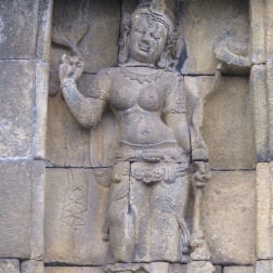 Carving in Borobudur.