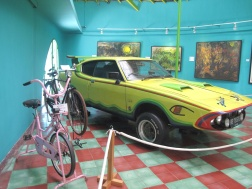 Affandi's car and bicycle.