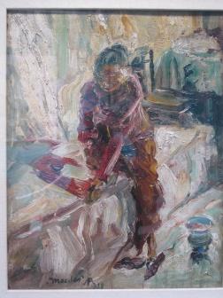 Painting by Affandi .