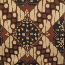 Traditional batik design worn in Yogyakarta
