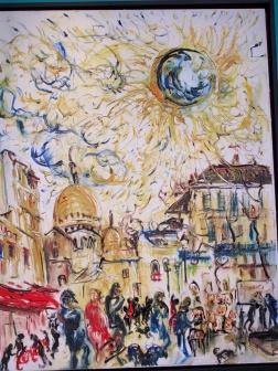 A trip to Paris by Affandi