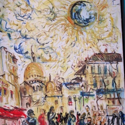 A trip to Paris by Affandi