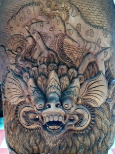 Wood carving by N Tjokot
