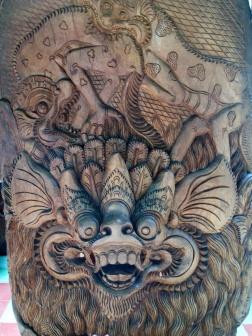 Wood carving by N Tjokot