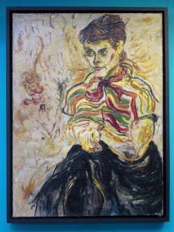 Portrait of Affandi's friend painted by him.