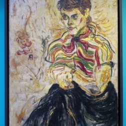 Portrait of Affandi's friend painted by him.