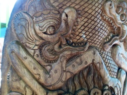 Carving by Nyoman Tjokot .