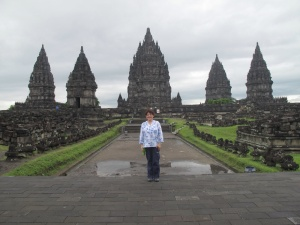 Prambanan Temple just after extreme rain.