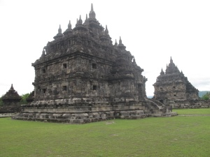 Plaosan Candi, identical Buddhist Temples.