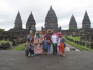 Family photo at Prambanan !
