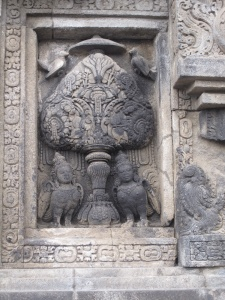 One of thousands of carvings at Prambanan.