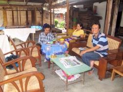 Tatang and Mrs Siti's home in Giriloyo batik Village.