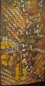 Seven sisters, a batik collaboration with the Utopia Urapuntja and Ernabella Arts, Australia.