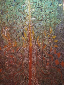 Tree Of Life, batik and embroidery by Agus and Nia.