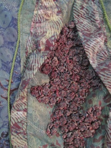 Detail of sculpted batik.