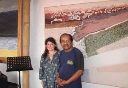 With Slamet Riyanto in his studio.