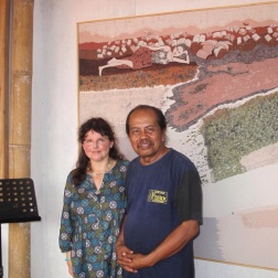 With Slamet Riyanto in his studio.