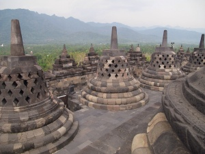 Borobudur and it's Stupas.
