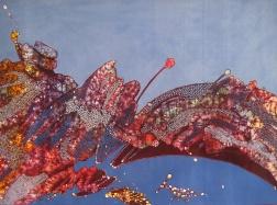 Detail of a batik by Tatang Wibowo