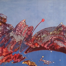 Detail of a batik by Tatang Wibowo