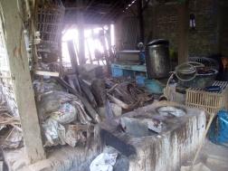 Mufidah's dye workshop.