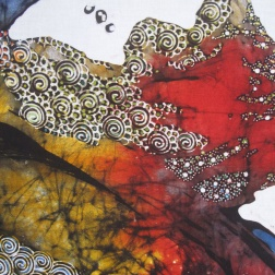 Detail of Batik by Tatang Elmy Wibowo .