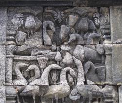 Detail Borobudur.
