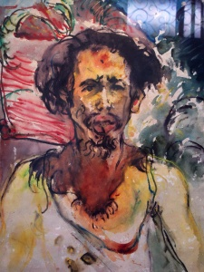 Self portrait by Affandi.