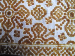 Close up of Nitik batik, produced in only one village with a customised canting.