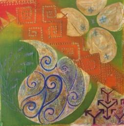 Batik sketch in progress