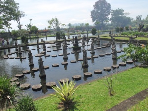 Stepping stones at Tirtagangga Water Gardens, Bali.