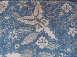 Detail of Mufidah's batik.