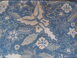 Detail of Mufidah's batik.