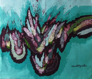 Contemporary batik by Slamet Riyanto.