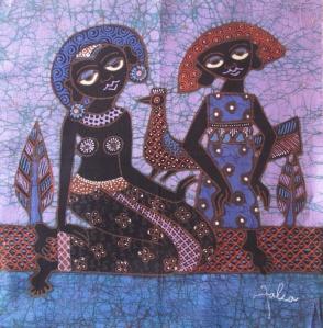 Small batik by Joko and Falia.