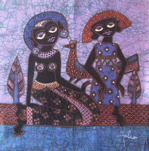 Small batik by Joko and Falia.