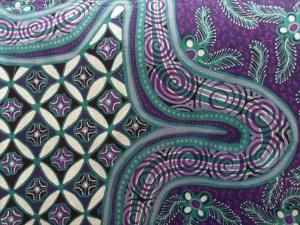 Detail of batik sarong made by Joko.