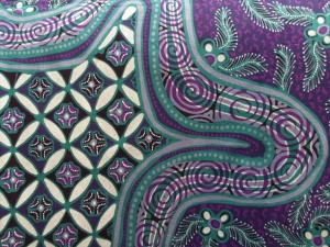 Detail of batik sarong made by Joko.