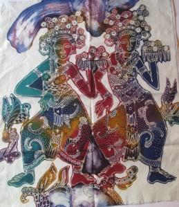 Unfinished batik by the artist Trisno.