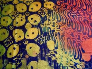 Detail do Tatang's batik.