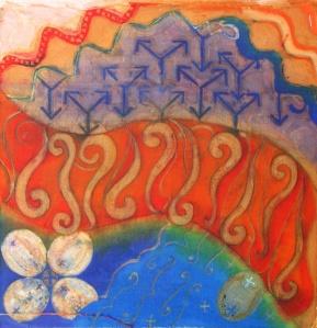 Design using Kuwang and Parang inspired motifs.