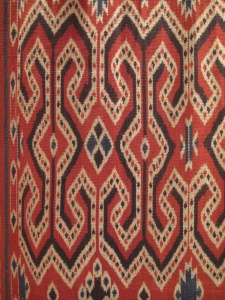 Warp Ikat weaving from Sulawesi. Dyed, Tied and woven by Hartati.
