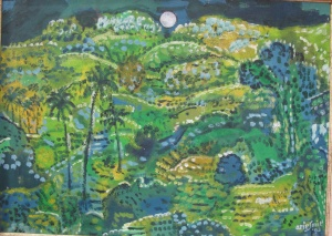 """Tropical Moon"", by Arie Smit, oil 50cm x69cm."